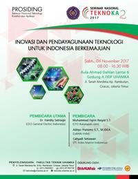Prosiding Seminar Nasional Teknoka - 2, Tahun 2017. Kegiatan ini didukung oleh Bukalapak.com, Penerbit Erlangga, Jakarta., dan UWENAKE.