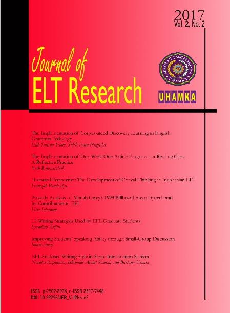 L2 Writing Strategies Used by EFL Graduate Students